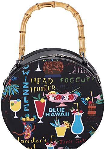 Küstenluder Damen Tasche Lieka Cocktails Bambus Handbag Schwarz