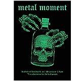 WANGHH Heavy Metal Rock Skull Vintage Posters e Impresiones Arte de la Pared Pintura en Lienzo Cuadros de la Pared para Cabaret Ktv Kalaok Bar Decor-50 * 70cm sin Marco