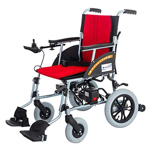 CANDYANA Elektro-Rollstuhl Leichter intelligenter Safe Leicht zu fahrende automatische Rollstühle Zusammenklappbare leichte Rollstühle