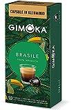 Gimoka Brasile - Cápsulas de aluminio compatibles con Nespresso, 50 cápsulas de café brasileño, intensidad 8