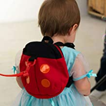 Ladybug Backpack with Leash Hamkaw Anti-lostツSafety Backpack 3D Animal Bag Strap Walk for 1-3 Years Old Baby Ladybug