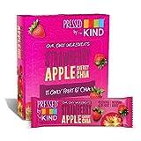 Pressed by KIND Fruit Bars, Strawberry Apple Chia, No Sugar Added, Non GMO, Gluten Free, 12 Count