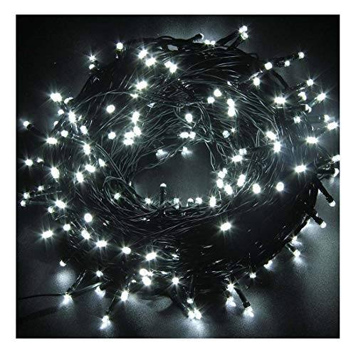 FULLBELL Christmas Lights, Indoor String Lights with 8 Flash Changing Modes, USB Power 72ft 200LED Wire Lights, Waterproof Rope Lights, Fairy Twinkle Decorative Lights for Patio/Garden/Home, White