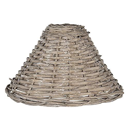 Paralume in rattan, stile country Clayre & Eef piramidi Clayre & Eef E27