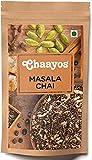 Chaayos Masala Tea - Premium Chai Patti with 100% Natural Spices - 200g [100 Cups]   Masala Chai Patti   Chai Masala   Assam Tea   Black Tea   Ginger Tea   Adrak Chai   Organic Tea Leaves   Tea Masala