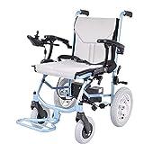 Gpzj Silla de Ruedas eléctrica, Plegable Ligera, se Puede Usar en el avión, Scooter Viejo, discapacitado, Silla de Ruedas de la vejez (batería de Litio)