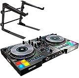 Hercules DJ Control Jogvision - Controlador de DJ USB y soporte para portátil keepdrum HA-LS10