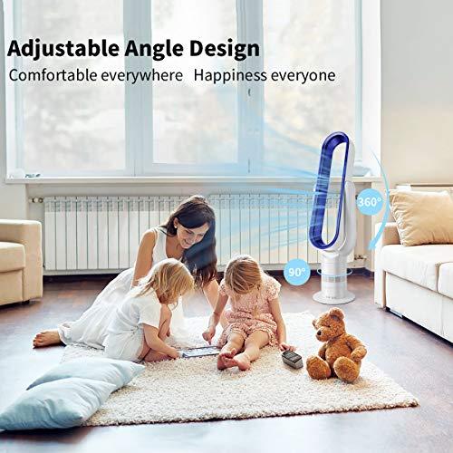Acoolir Turmventilator mit Air Multiplier Technologie inkl Fernbedienung. Energieeffizienter Ventilator mit Sleep-Timer Funktion, 90° Oszillation,10 Geschwindigkeiten, Leises Betriebsgeräusch, 100cm