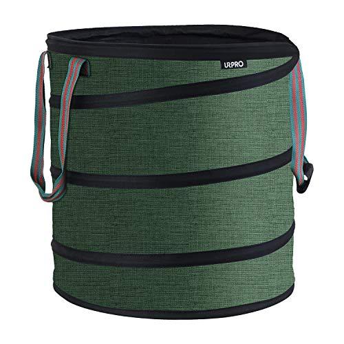 URPRO Sac de Jardin, fabriqué par Dessus des matériaux 600d Oxford Tissu en Fil d'acier, Dimensions Déplié :(45 x 50 cm)=80L, Idéal pour Yard, déchets, Jardinage, Camping, extérieur