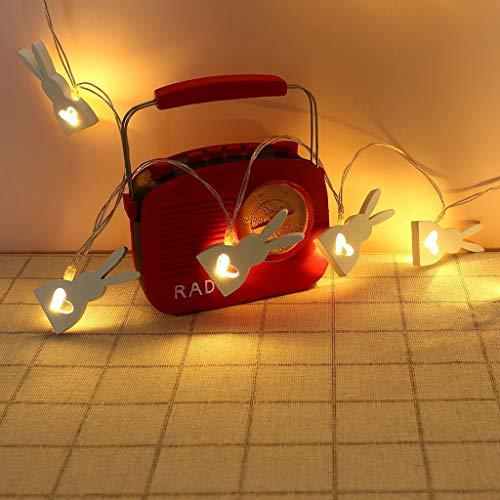 duquanxinquan Led Rabbit Fairy Lights,Rabbit Fairy Lichterketten, Osterschmuck Hasen Zierdeko,Gartenleuchten Für Schlafzimmer, Wohnzimmer, Terrasse, Party, Weihnachtsbaum, Geburtstag (A)