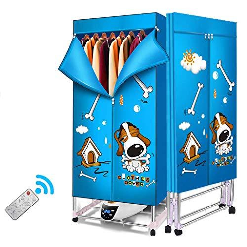 Opvouwbaar apparaat van 66 lb capaciteit energiebesparend stil elektrisch droogrek met digitale keramische verwarming 220 V snelinstallatie