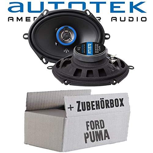 Lautsprecher Boxen Autotek ATX-572 | 2-Wege oval 13x18cm Koax Lautsprecher 5\'x7\' Auto Einbauzubehör - Einbauset für Ford Puma Heck oval - JUST SOUND best choice for caraudio
