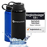 Die getestete Thermosflasche von Sportastisch in der 1-Liter-Version