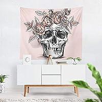 頭蓋骨タペストリー背景布吊り布寝室の部屋の装飾ベッドサイドタペストリーホームタペストリー-004_280 * 280cm