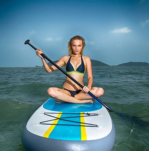 Product Image 13: 10' Inflatable Stand Up Paddle Board / Kayak And SUP! (6 Inches Thick, 32 Inch Wide Stance Width) |11-Piece Accessory Set That Includes Convertible Paddle, Kayak Seat, Travel Backpack, And More!