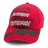 True Religion Men's Doodle Print Baseball Cap, True Red,One Size Fits All