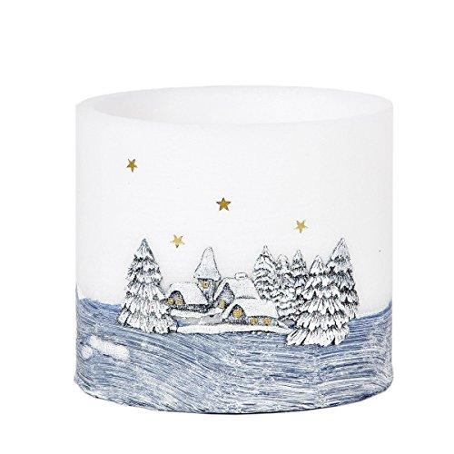 Rotondo Lampion Natale candela lumino candela schimmern