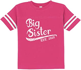 Big Sister Est 2020 - Sibling Gift Idea Toddler Jersey T-Shirt