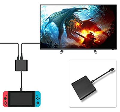 FastSnail HDMI Type C Hub Adapter for Nintendo Switch