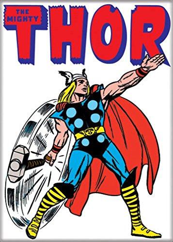 "Ata-Boy Marvel Comics Classic Thor 2.5"" x 3.5"" Magnet for Refrigerators and Lockers"