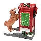 Village Collection Santa's Mailbox Ornaments, Home Decoration Santa Resin Fit for Christmas Tree Festival