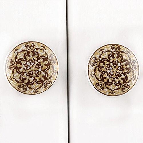 Maniglie IndianShelf 2 pezzi a mano Multicolor ceramica floreale Dresser manopole Governo del cassetto della cucina armadio porta tira