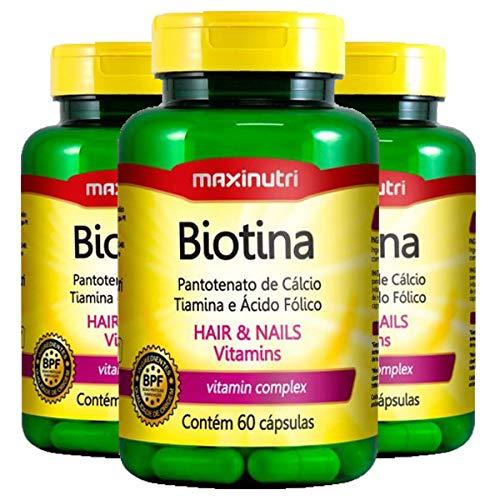 Biotina - 3 unidades de 60 cápsulas - Maxinutri