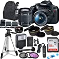 Canon EOS Rebel T7 Digital SLR Camera with Canon EF-S 18-55mm Image Stabilization II Lens, Sandisk 32GB SDHC Memory Cards with Commander Optics Accessory Bundle