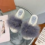 Zuecos Sanitarios Mujer Originales,Viento Y Zapatillas De Piel De Hadas, Las Mujeres Usan 2021 Zapatillas De Plataforma Verano con Faldas, Zapatos De Playa-Modelos De Mujeres_UE 36