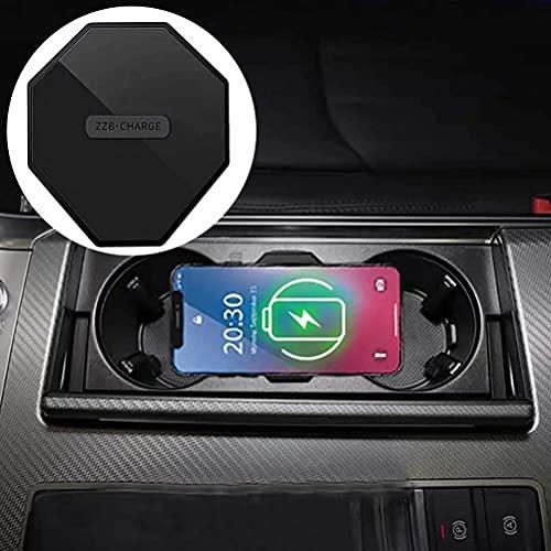 LYBH Soporte De Carga De Placa De Carga De Cargador Inalámbrico Qi Rápido De 15 W para iPhone 8 11 para Audi A6 C8 A7 2019 2020 2021