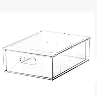 WYJRF Boîte de Rangement pour réfrigérateur,boîte de Rangement pour tiroirs Transparents pour Aliments de Cuisine,boîte de...