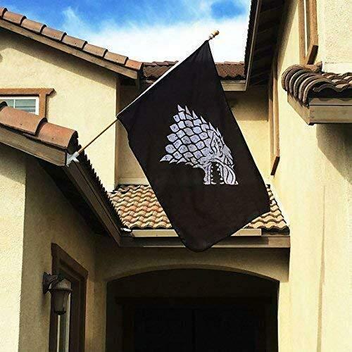 Fyon Game of Thrones Stark Sigil Fahne Banner 3X5Feet