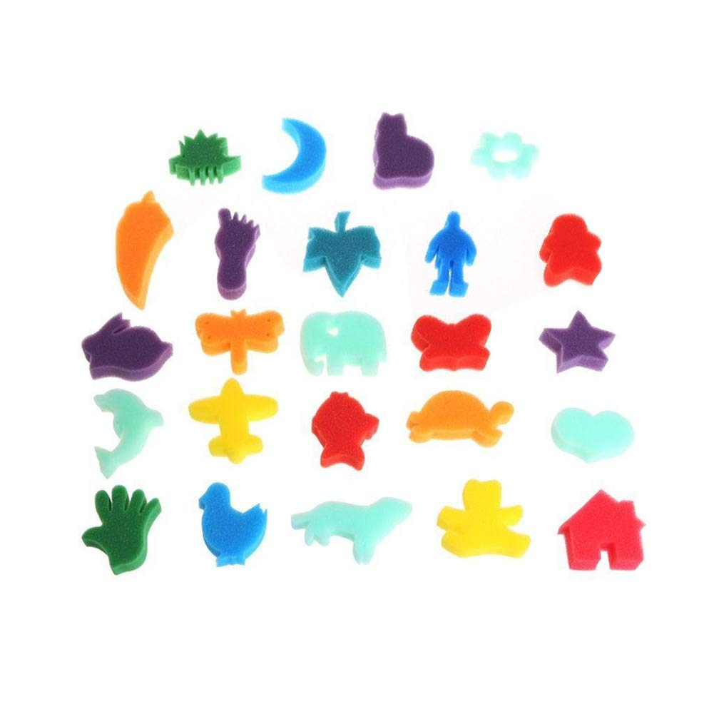 YG/_Oline 30 PCS Art Painting Sponge 30 Different Animal Shapes Painting Sponge Assorted Pattern and Colors Painting Accessories for DIY Art Project