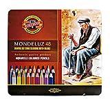 KOH-I-NOOR 3727 Lápices Mondeluz acuarela de colores - Surtido de Color (juego de 48)
