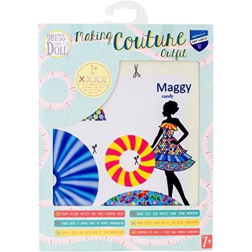 Vervaco PN-0164624 Kit de création de tenue de couture, Assortie, Convient à toute poupée de mode de 29 cm