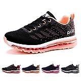 Air Zapatillas de Running para Hombre Mujer Deporte Zapatillas de Trail Deportivas Ligero Fitness Gym Zapatos para Casual Gimnasio Correr Sneakers Athletic Transpirables(Talla 40EU, Negro Orange)