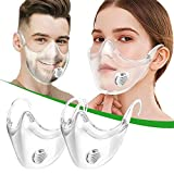 2PCS Clear 3D Face_Mask with Breathing Valve, Reusable Face_Shield, Transparent Face Protection Visible Expression, Protect Lipstick Lips - DIY Face Mask Accessories