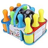 Juguete de Bolos para niños, Juguetes de Bolas de Bolos, Juego de Bolos de 10 Pernos y 2 Bolas Juego de Juguete Juego de Juego de Bolas de Bolos de Colores Juego de Juguetes(SS983-1(17CM))
