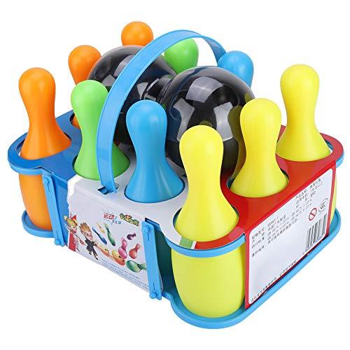 Ponacat Bowlingspielzeug-Set Buntes Spielzeug-Bowling-Set 10 Stifte 2 Bowlingkugeln für Kinder Baby Jungen Mädchen Ab 2+ Jahren