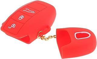 Red ELPCraft Porte-cl/és en Cuir avec Logo de Voiture Compatible avec Mini Accessoire avec Mini Logo