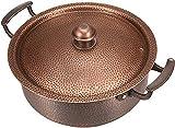 Olla de sopa de cobre puro, olla caliente de cobre, olla de cobre espesado, olla de cordero antiguo, para uso doméstico de hotel (para gas, 30 cm)