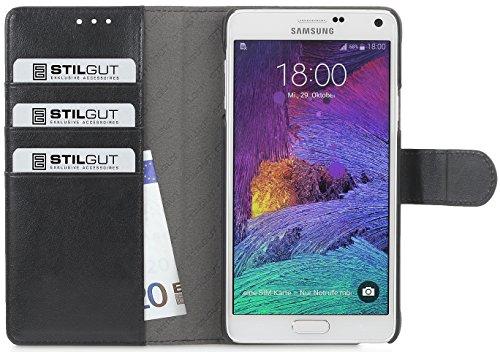 StilGut Talis, Hülle mit Kreditkartenfach kompatibel mit Samsung Galaxy Note 5, schwarz