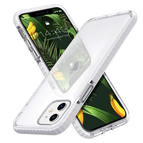 MATEPROX iPhone 11 Cover Trasparente, Sottile, Resistente ai raggi UV, Anti-Ingiallimento, Anti-Graffio, Cover resistente agli urti e alle cadute, Cover per iPhone 11 6.1''-Bianco