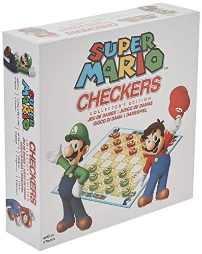 USAopoly USOCK005191 Bros Super Mario Checkers, colores variados , color/modelo surtido