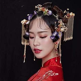 Stylish and Elegant Crown Princess Crown Crystal Big Hoop Crown Performances Birthday Party Senior Royal Treasures Luxury Hair Accessories Headdress Children wsd (Couleur du métal : As Show)