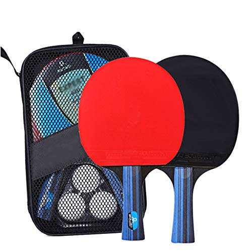 TTZ Ping Pong Paddle Set with Balls - Best Gift for Boys and Girls, Adults - Great for Indoor Or Outdoor Play