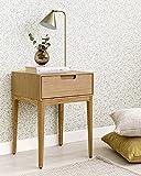 Kenay Home-Mesita De Noche Dormitorio Roble 1 Cajón Mesilla Cama Habitación...