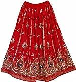 Dancers World Superbe jupe tzigane pour femme - Style Hippie Boho indien - M/L - Multicolore -