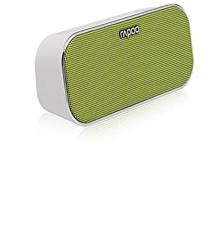Rapoo A500 Tragbarer Bluetooth NFC Lautsprecher (Freisprechfunktion, Dual Mode) grün