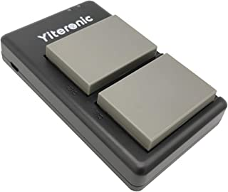Yiteronic BLN-1 互換バッテリー 2個+充電器 対応機種 Olympus BLN-1,OM-D E-M5 MarkII,OM-D E-M5,OM-D E-M1 MarkII,OM-D E-M1,OM-D E-M5,PEN-F,PEN E-P5 に対応